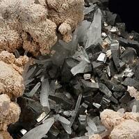 Arsenopyrite Calcite & Rhodochrosite