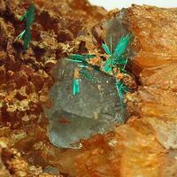 Brochantite & Fluorite