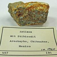 Stibnite With Stibiconite