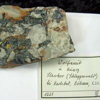 Wolframite In Quartz