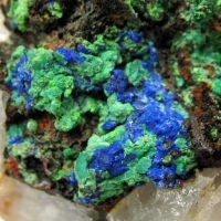 Azurite & Malachite On Quartz