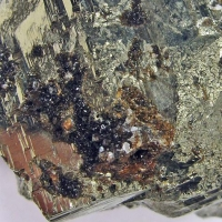 Hubeite In Pyrite