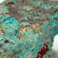 Native Silver On Chrysocolla