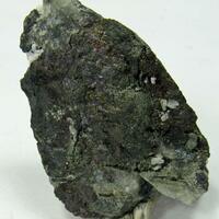 Bismuthinite & Proustite On Native Arsenic