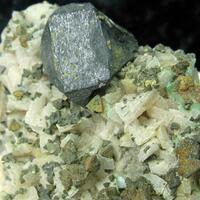 Sphalerite & Chalcopyrite On Dolomite