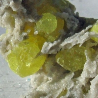 Aragonite With Native Sulphur