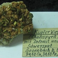 Chalcopyrite Dolomite & Baryte