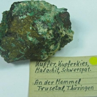 Native Copper Chalcopyrite Malachite & Baryte