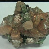 Native Copper In Calcite