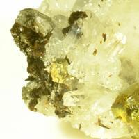 Hubeite & Pyrite & Chalcopyrite & Inesite