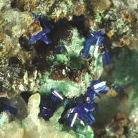 Linarite & Schulenbergite & Ktenasite & Malachite & Anglesite & Smithsonite