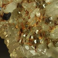 Scheelite & Fluorite On Quartz