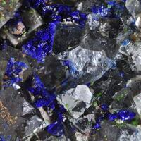 Azurite On Fluorite