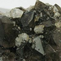 Chabazite & Goethite On Smoky Quartz