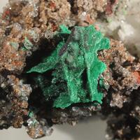 Malachite On Cuprite