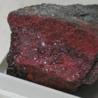 Native Mercury On Cinnabar