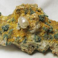 Aragonite Var Tarnowitzite & Smithsonite & Cerussite & Malachite