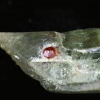 Chromian Diopside With Grossular Inclusions