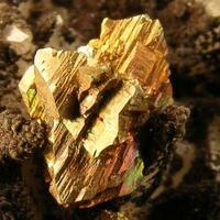 Hematite & Chalcopyrite On Calcite