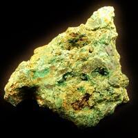 Pyrobitumen With Malachite