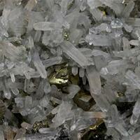 Chalcopyrite With Aragonite & Sphalerite On Quartz
