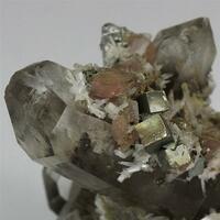 Bertrandite Rhodochrosite Pyrite & Quartz