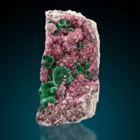 Malachite On Cobaltoan Calcite