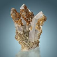 Siderite & Pyrite On Quartz