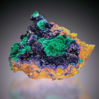 Azurite Olivenite & Malachite