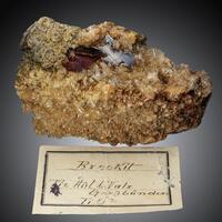 Brookite On Rock Crystal