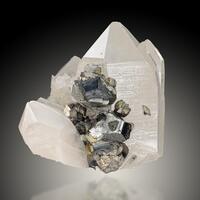 Stannite & Arsenopyrite On Quartz