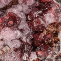 Roselite On Cobaltoan Calcite