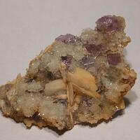 Baryte & Fluorite On Quartz