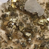 Chalcopyrite & Calcite On Dolomite
