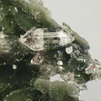 Fluorapophyllite On Chalcedony