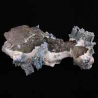 Calcite On Mordenite With Chalcedony