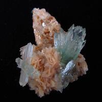 Apophyllite On Heulandite With Stilbite