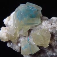 Pentagonite In Calcite On Heulandite