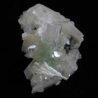 Apophyllite & Mordenite On Stilbite