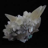 Calcite With Stilbite On Heulandite