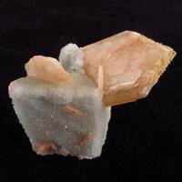 Stilbite On Quartz With Calcite