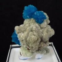 Cavansite On Heulandite