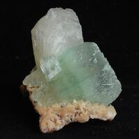 Apophyllite With Stilbite On Heulandite