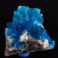 Cavansite & Pentagonite On Mordenite