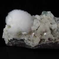 Mesolite With Apophyllite On Heulandite