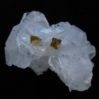 Powellite On Apophyllite With Stilbite & Chalcedony