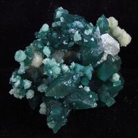 Apophyllite & Calcite On Chalcedony
