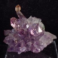 Citrine On Amethyst
