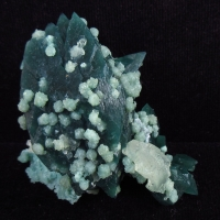 Apophyllite & Calcite On Chalcedony