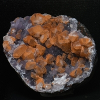 Quartz With Calcite On Amethyst